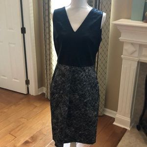 Banana Republic faux Leather/Stretch Dress